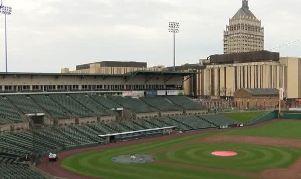 Frontier Field preps for opening day_20160331215205
