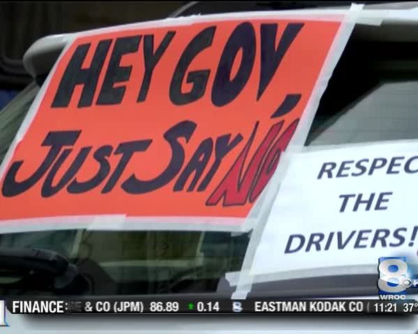 Taxi drivers speak out against ride sharing