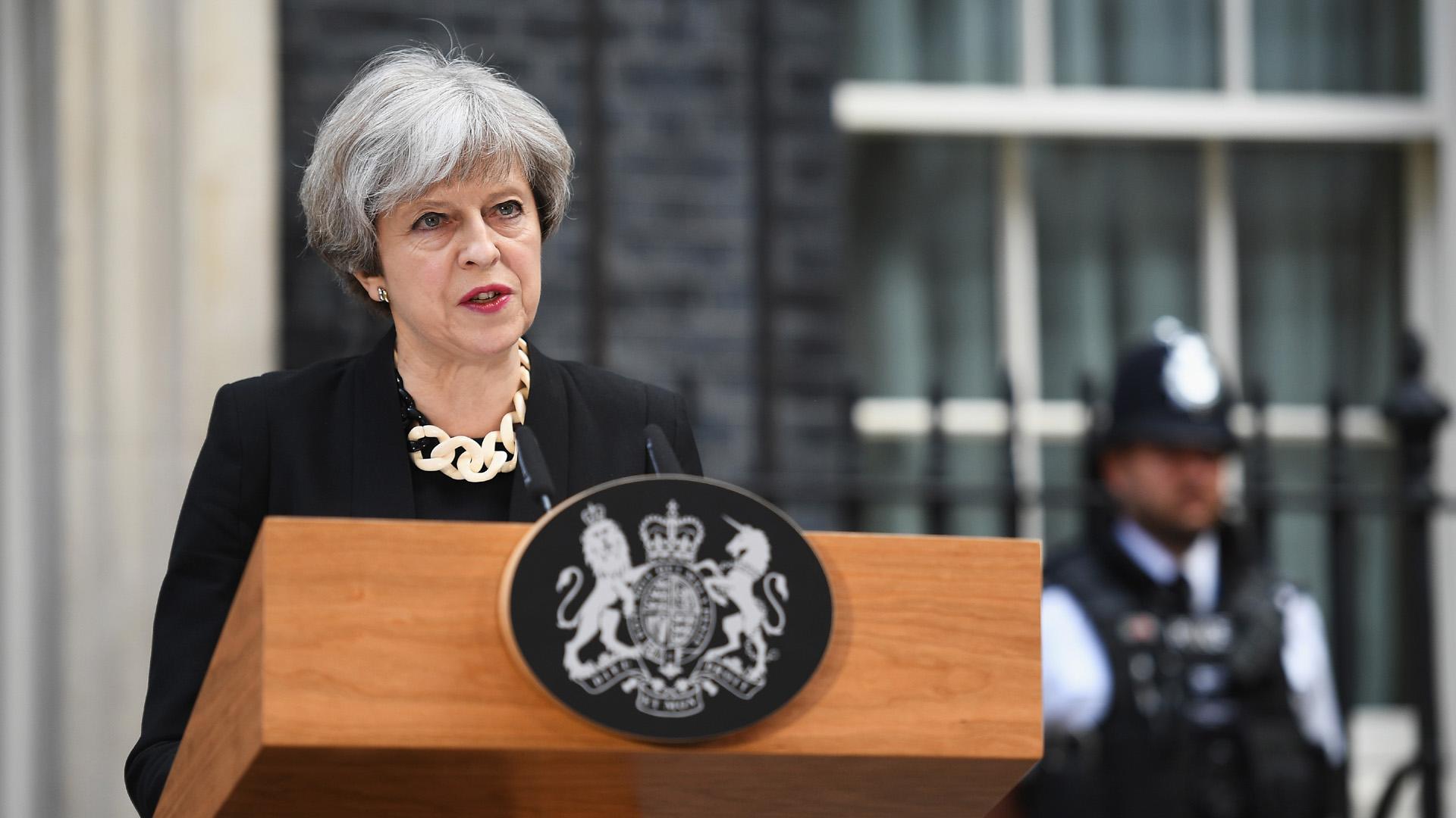 British Prime Minister Theresa May June 4, London Attack presser,90184888-159532
