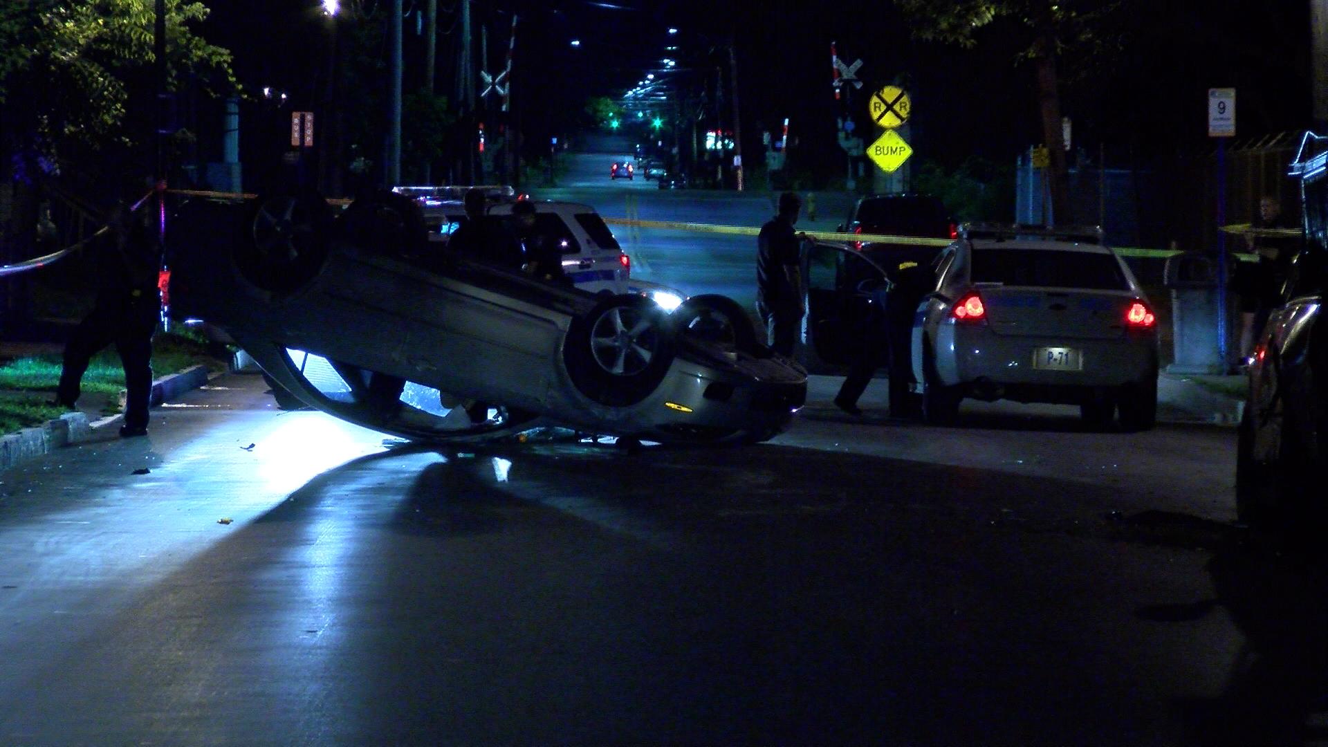 Jay Street rollover crash