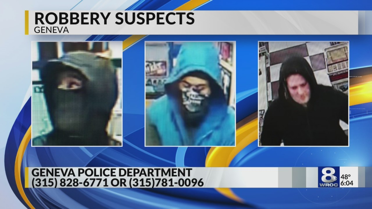Geneva Police Department is searching for armed robbery suspects