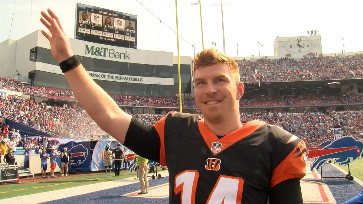 Andy Dalton overwhelmed by support from Bills fans