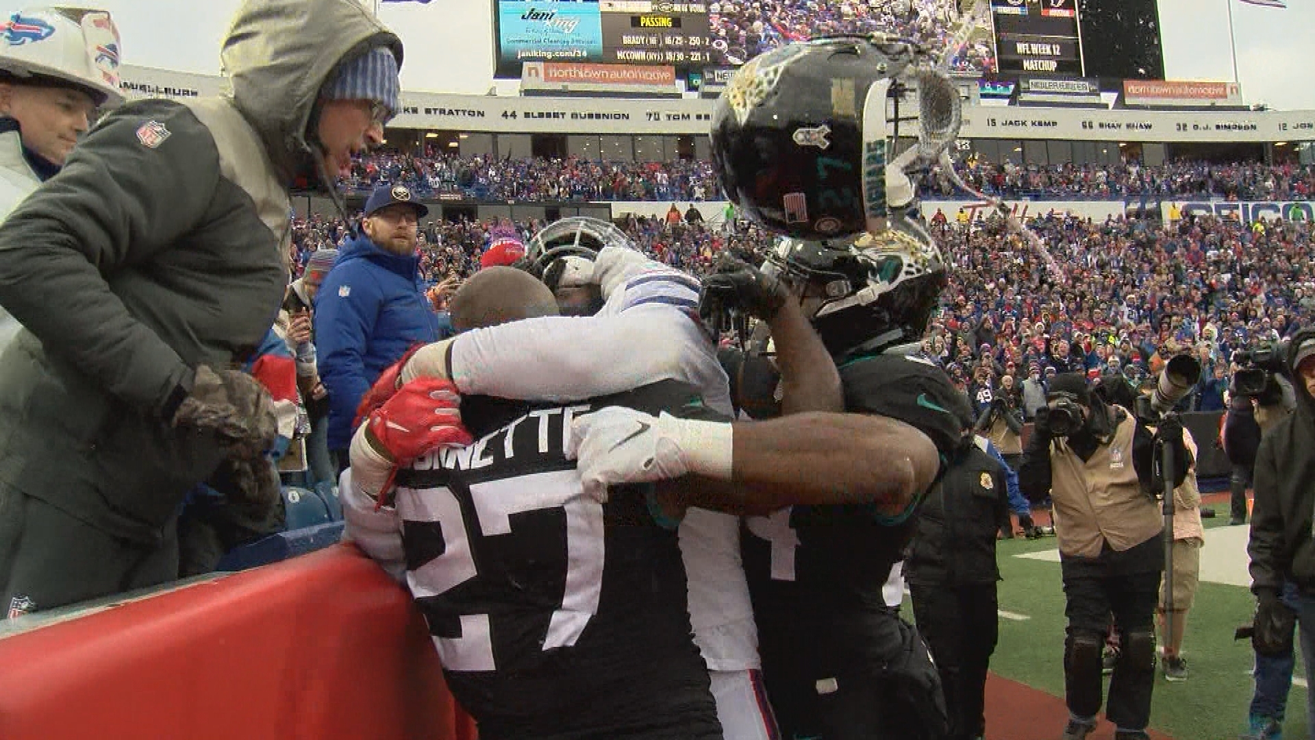 Brawl sparks turning point in Bills win over Jags