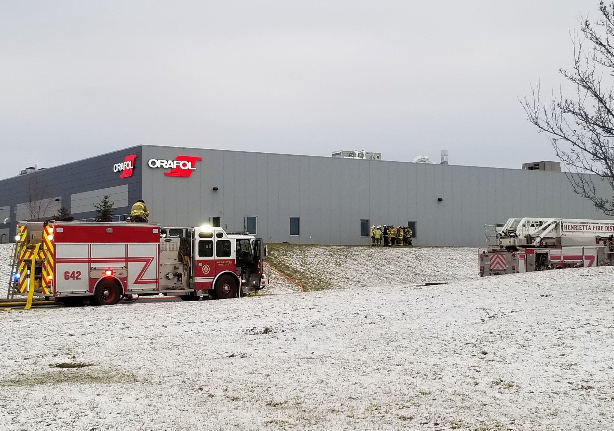 Fire, HazMat incident at Henrietta manufacturer