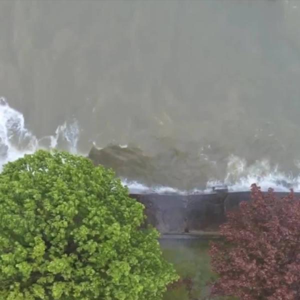 Drone footage of Lake Shoreline