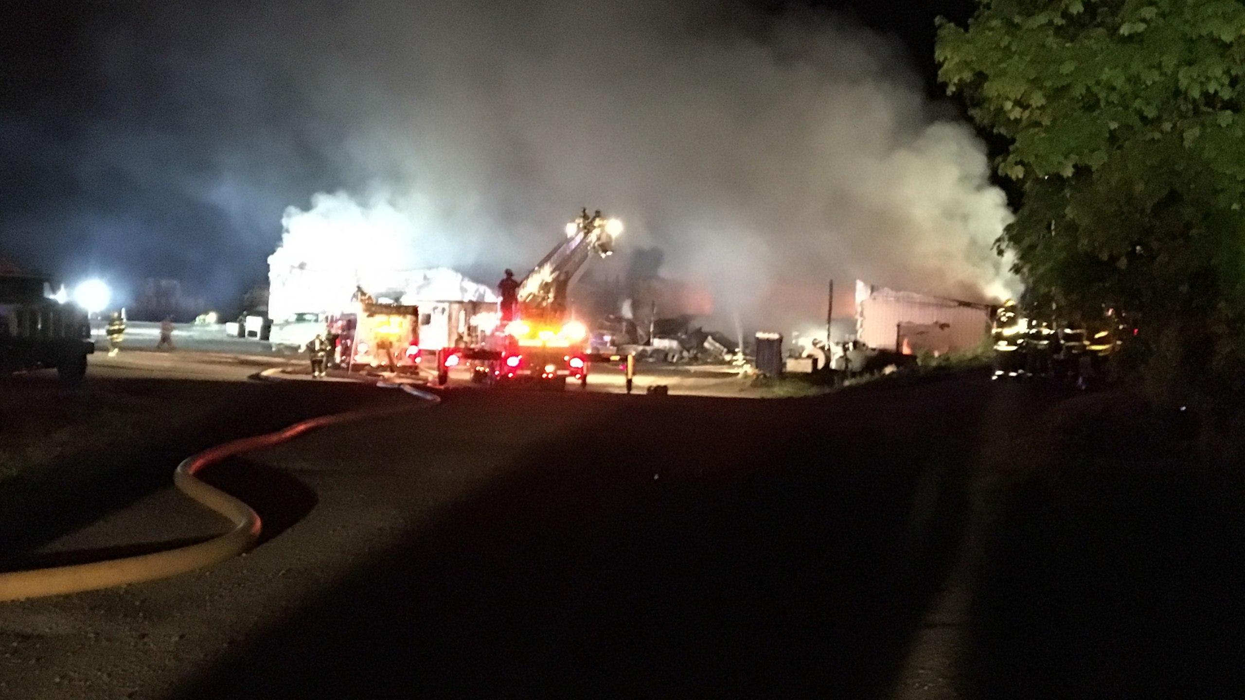 Livonia Potato Farm Destroyed By Enormous Fire