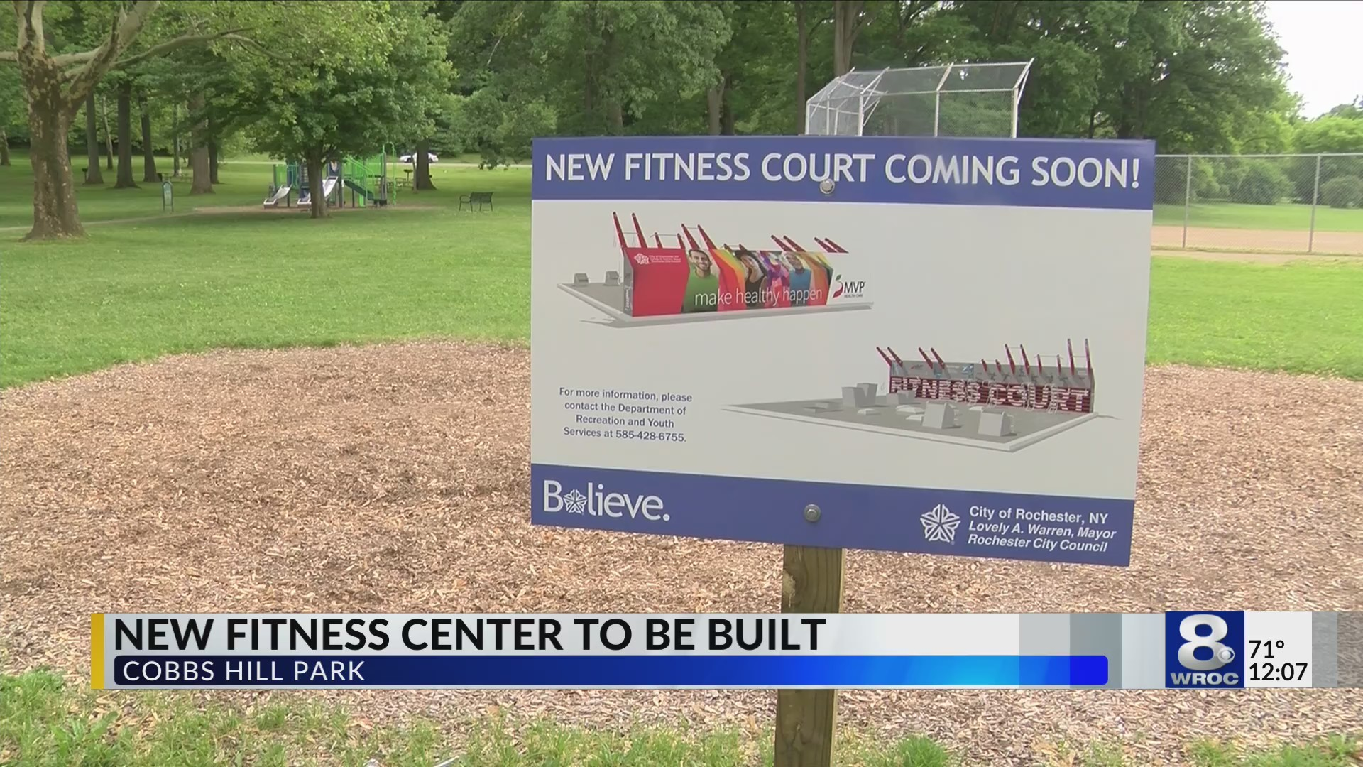 Fitness court coming to Cobb's Hill Park