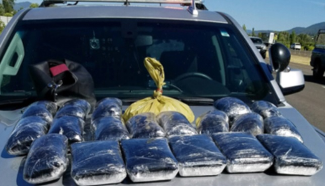 Oregon police find 55 pounds of meth, heroin during traffic