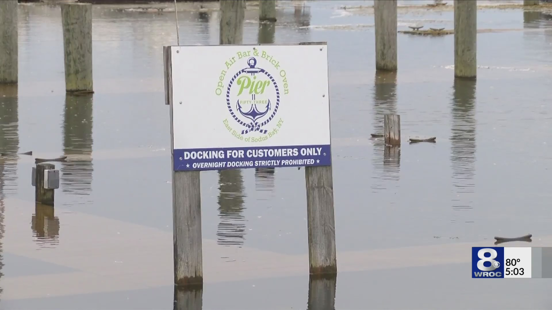 New restaurant struggles to stay afloat due to shoreline flooding