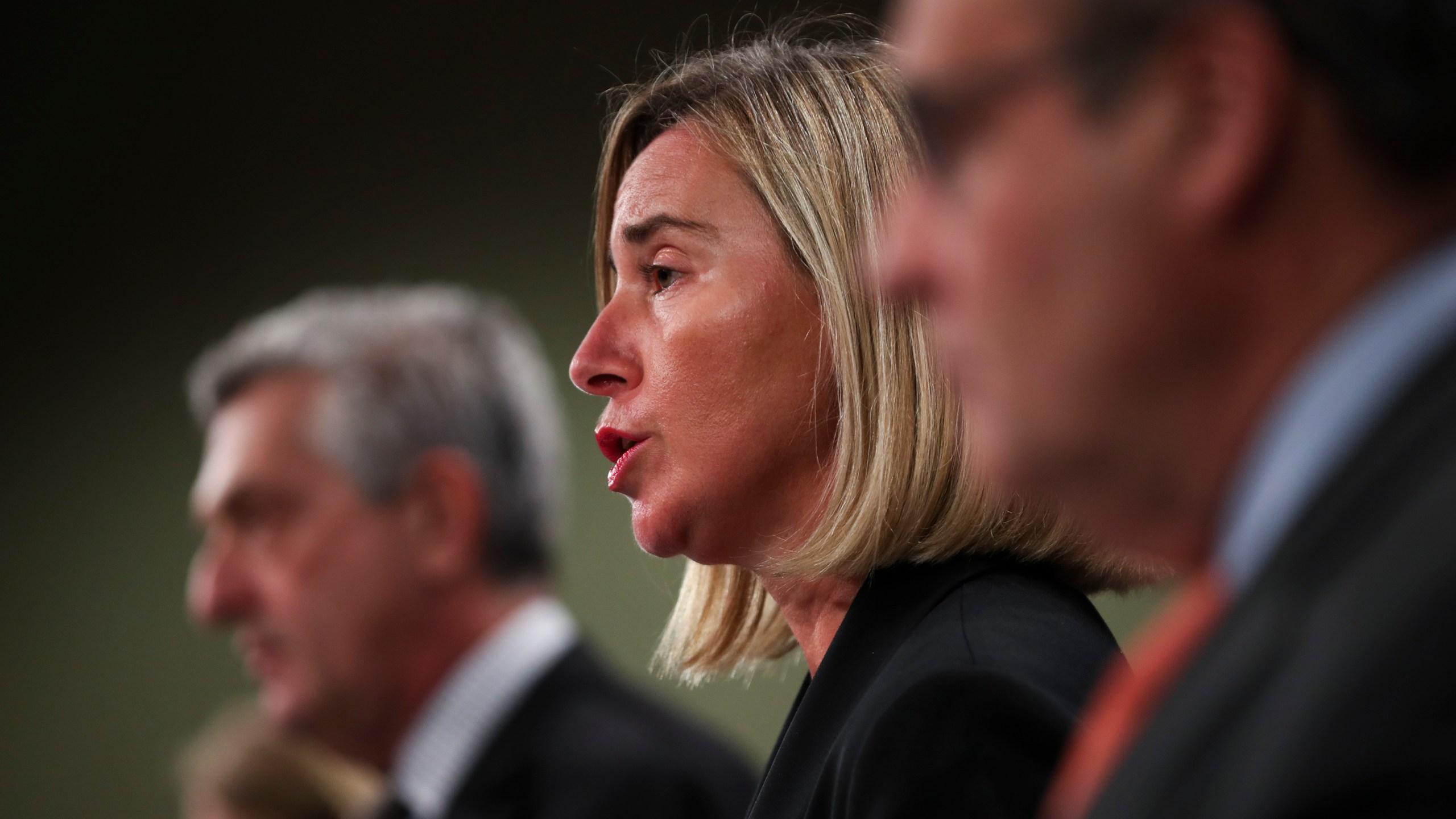 Federica Mogherini, Filipo Grandi, Antonio Vitorino