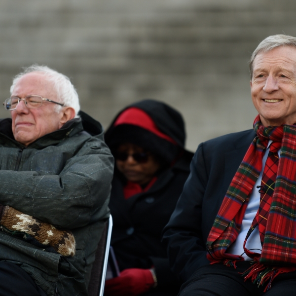 Bernie Sanders, Tom Steyer