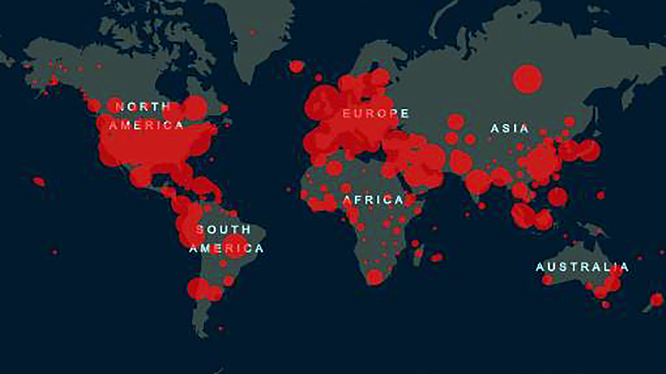 Live, Interactive Map of Global Coronavirus Cases