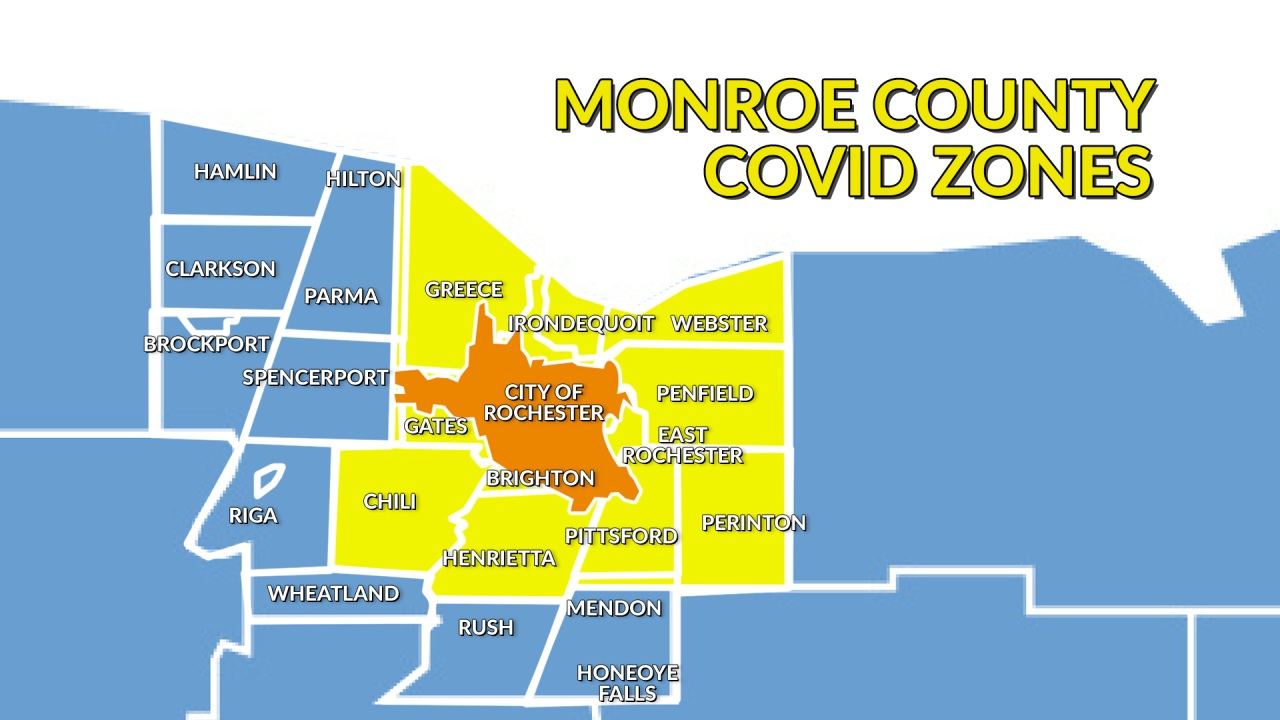 7 32 Positivity Rate In Monroe County S Covid 19 Orange Zone 6 81 In Yellow Zone Rochesterfirst