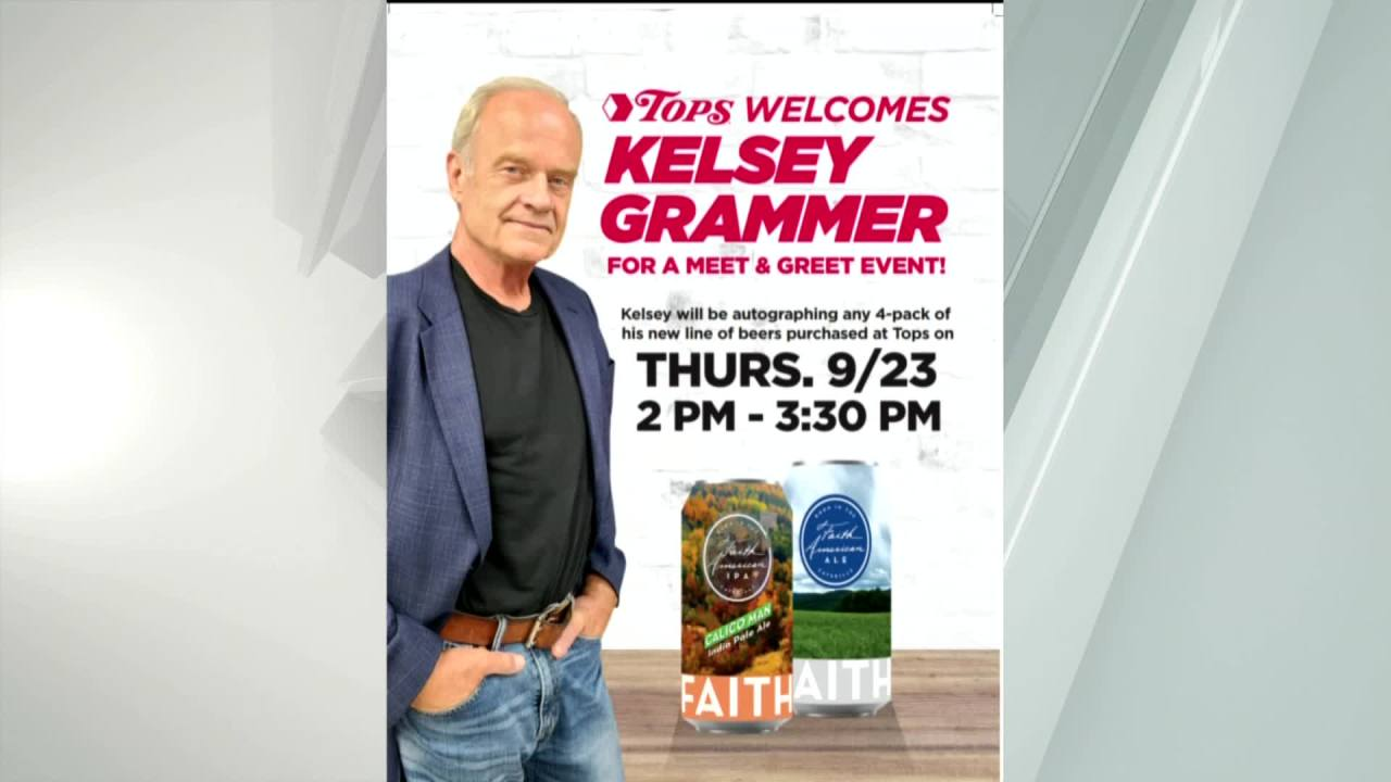 Kelsey Grammer coming to Penfield Tops to launch new beer