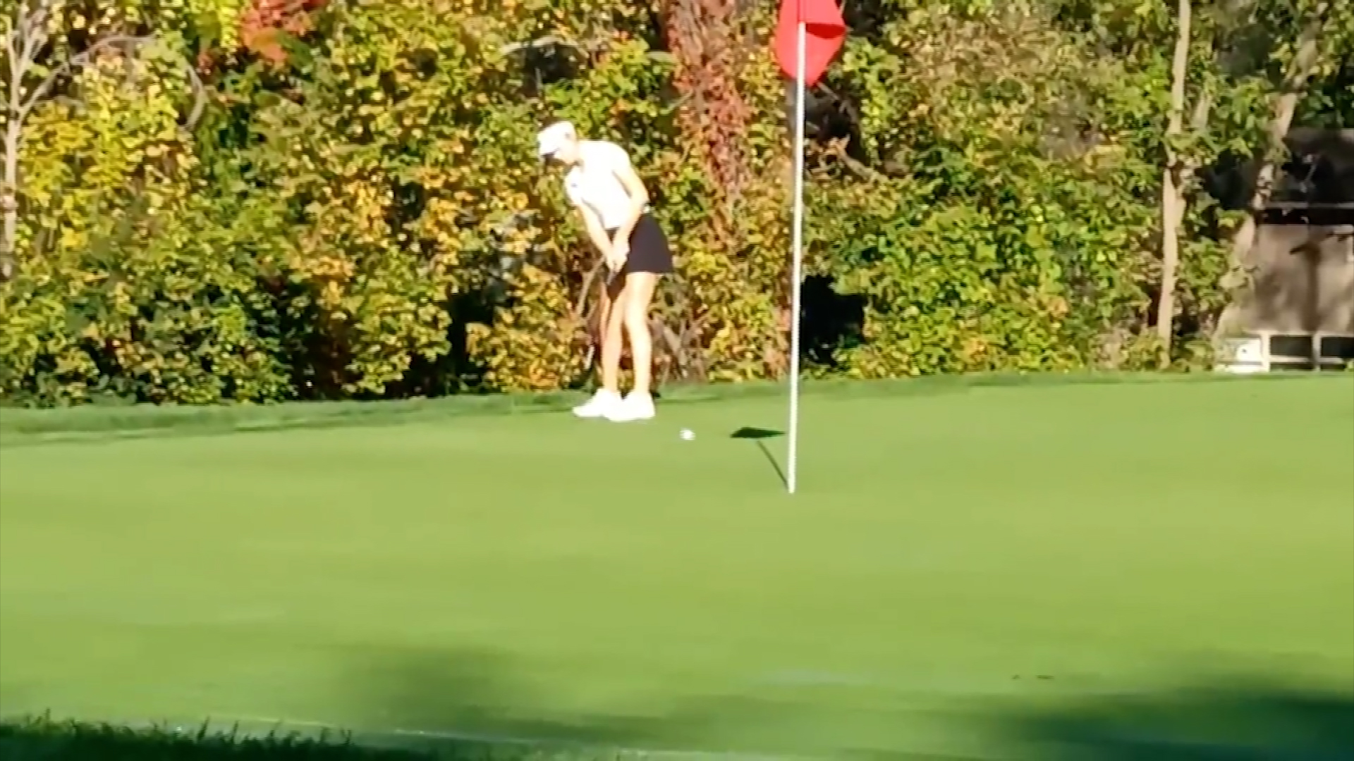 Julia Zigrossi of Mercy finishes +5 winning the Section V championship